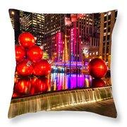 Radio City Music Hall - New York City Usa Throw Pillow