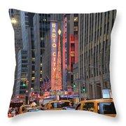Radio City Music Hall New York Throw Pillow