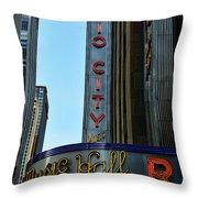 Radio City Music Hall Throw Pillow by Paul Ward
