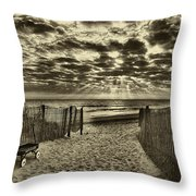 Radio Flyer At Dewey Beach Throw Pillow