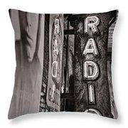 Radio Nashville - Monochrome Throw Pillow