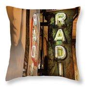Radio Nashville Sign Throw Pillow