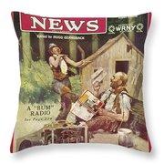Radio News, 1926 Throw Pillow