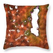 Radioactive Paint Throw Pillow