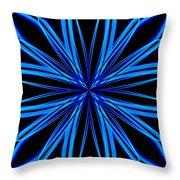 Radioactive Snowflake Blue Throw Pillow