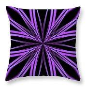 Radioactive Snowflake Purple Throw Pillow