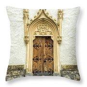 Radovljica Church Door Throw Pillow