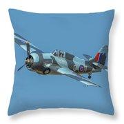 Raf Fm-2 Wildcat Throw Pillow
