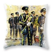 Raf Military Parade In York Throw Pillow
