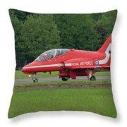 Raf Red Arrows Jet Lands Throw Pillow