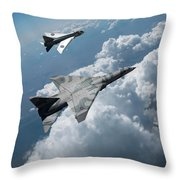 Raf Tsr.2 Advanced Bomber With Lightning Interceptor Throw Pillow