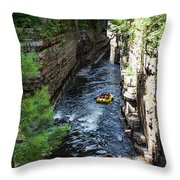 Rafting In A Gorge Throw Pillow