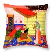 Ragamala Painting Throw Pillow
