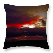 Rage - Sunset Throw Pillow