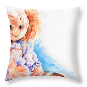 Raggedy Rosie Throw Pillow