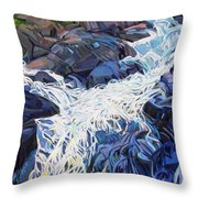 Ragging Waters Throw Pillow