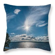 Raging Cotton Throw Pillow