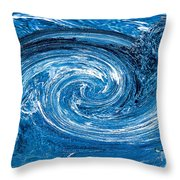 Raging River Throw Pillow