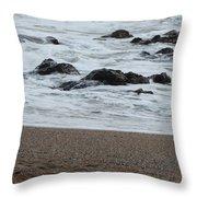 Raging Sea Throw Pillow
