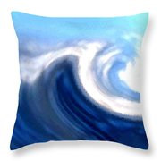 Raging Sea Throw Pillow