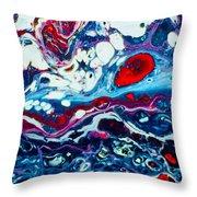 Raging Storm  Throw Pillow
