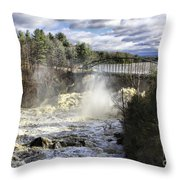 Raging Water Throw Pillow
