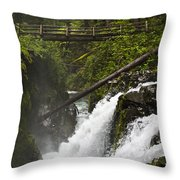 Raging Water Fall Throw Pillow