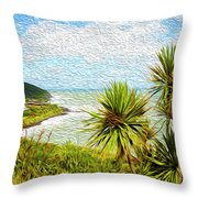 Raglan Coastline Throw Pillow
