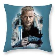 Ragnar Lothbrok Throw Pillow