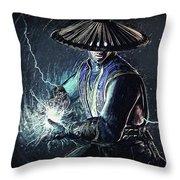 Raiden - Mortal Kombat Throw Pillow