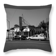Raifords Disco Memphis A Bw Throw Pillow