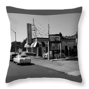 Raifords Disco Memphis B Bw Throw Pillow