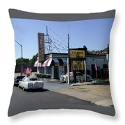 Raifords Disco Memphis B Throw Pillow by Mark Czerniec