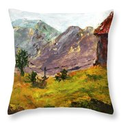Raigad Fort 4 Throw Pillow