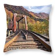 Rail Bridge Throw Pillow
