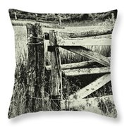 Rail Fence Throw Pillow