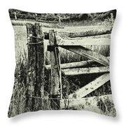 Rail Fence Throw Pillow
