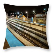 Rail Perspective Throw Pillow