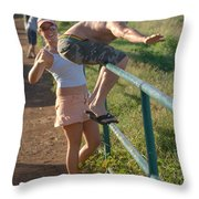 Rail Surfing Throw Pillow