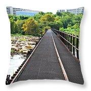 Rail To Richmond Throw Pillow