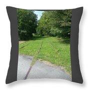 Rail Tracks Throw Pillow