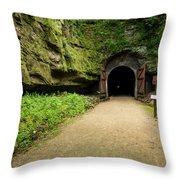 Rail Trail Tunnel 2 A Throw Pillow