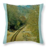 Railroad Adventure Throw Pillow