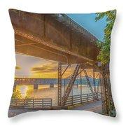 Railroad Bridge12 Throw Pillow