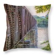 Railroad Bridge14 Throw Pillow