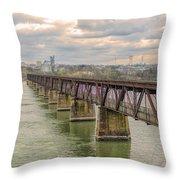 Railroad Bridge3 Throw Pillow