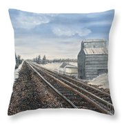 Railroad Going North  Throw Pillow