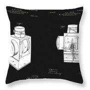 Railroad Lantern Plans Throw Pillow