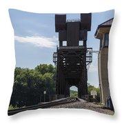 Railroad Lift Bridge 2 C Throw Pillow