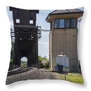 Railroad Lift Bridge2 A Throw Pillow